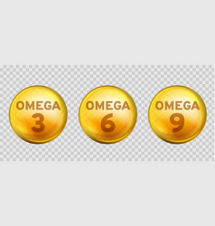 Omega acids healthy food supplements fatty acid vector
