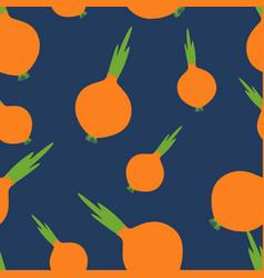 Onions pattern seamless pantone vector