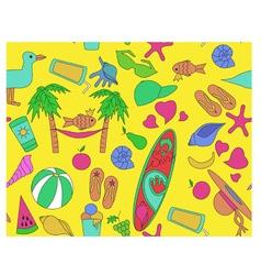 pattern beach vector image