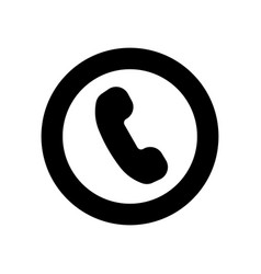 phone flat icon black symbol of phone vector image