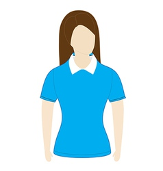Polo shirt template with short sleeves vector