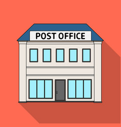 Post officemail and postman single icon in flat vector