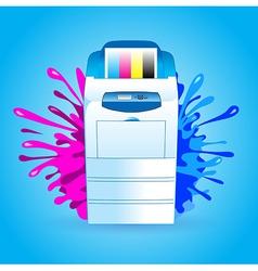 printer cmyk print splash vector image