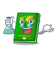 Professor green passport in the cartoon shape vector