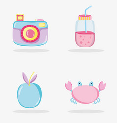 Punchy pastel cartoons collection vector