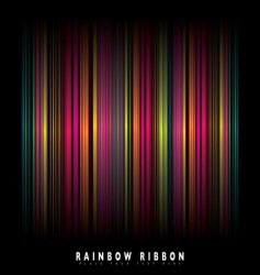 Rainbow stripe background vector