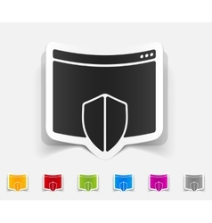 realistic design element internet security guard vector image