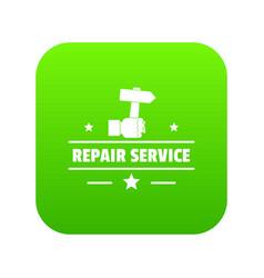Repairman icon green vector
