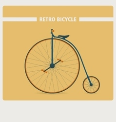 Retro style of old vintage bicycle vector