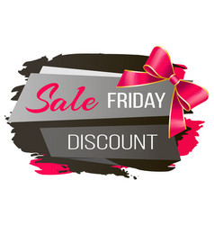Sale on black friday discount at shop promotion vector