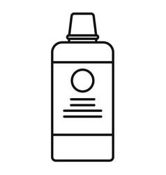Salon hair dye bottle icon outline style vector