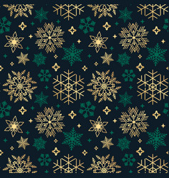 seamless christmas background with different vector image