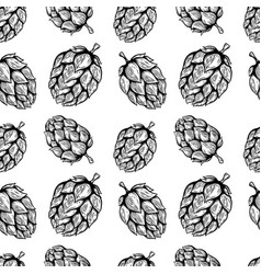 seamless pattern with beer hop design element for vector image