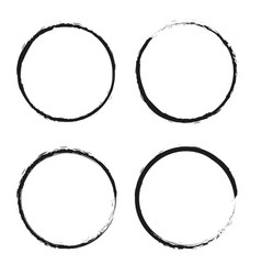 Set of grunge circles grunge round shapes vector