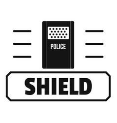 social protest shield logo simple black style vector image
