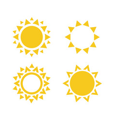 sun icon set summer rest sign travel agency logo vector image