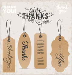 Thanksgiving Design Elements and Gift Tags vector image