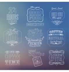 Vintage thin line bakery labels vector
