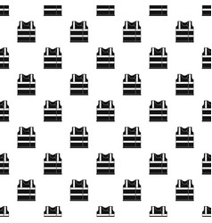 Working vest pattern seamless vector