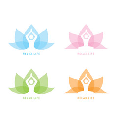 yoga symbol icon design vector image