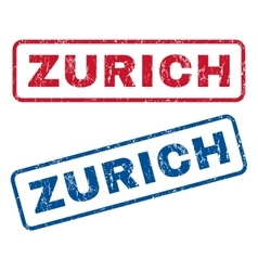 Zurich Rubber Stamps vector