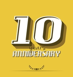 10 year an7 vector image vector image