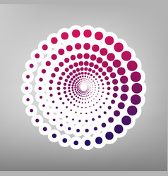 abstract technology circles sign purple vector image