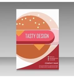 Brochure design for burger menu vector image vector image
