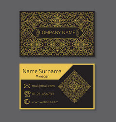 Business card editable template include vector image