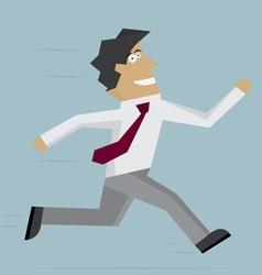 Businessman run forward vector image