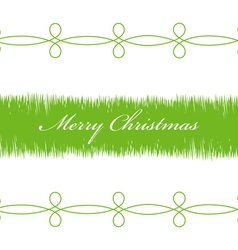 Happy Christmas green branches on a white vector image