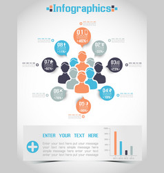 MODERN INFOGRAPHIC BUSINESS PEOPLE ICON MAN STYLE vector image vector image