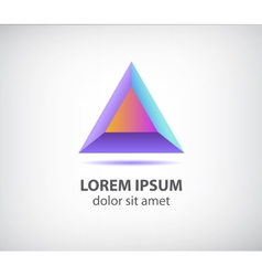 abstract 3d colorful modern triangle logo vector image vector image