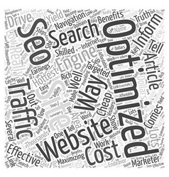 BW Low cost SEO Word Cloud Concept vector image vector image