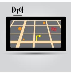 Digital gps navigation icon eps10 vector
