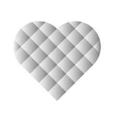 heart mosaic of square tiles with grey gradients vector image