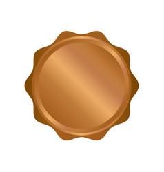 modern bronze circle metal badges labels and vector image