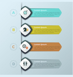 modern infographic design template with 4 separate vector image