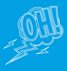 oh comic text sound effects icon outline style vector image