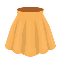 orange women s light summer skirt with pleats vector image vector image