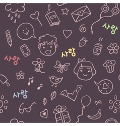 Romantic and love pattern vector image