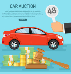 sale car at auction vector image vector image