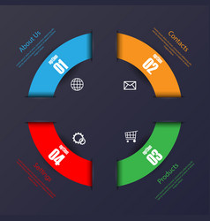 circle info graphic background vector image