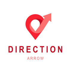 direction arrow logo template abstract business vector image