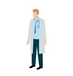 Isometric doctor character vector