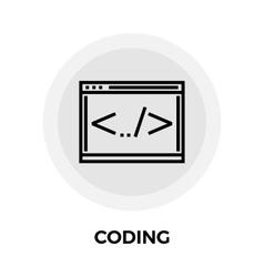 Coding Line Icon vector image vector image