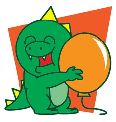 Dinosaur and Balloon vector image vector image