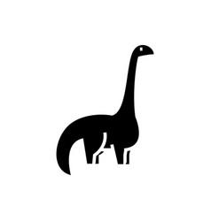 Dinosaur - diplodocus icon vector