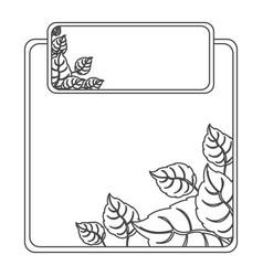 figure sheath of leaves icon vector image