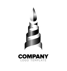 logo template abstract object vector image